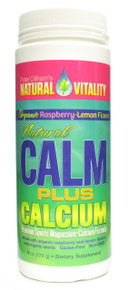 Natural Calm Plus Calcium Raspberry Lemon 8 oz Peter Gillham's Natural Vitality