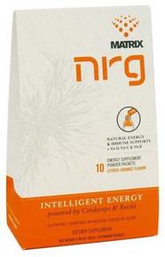 NRG Matrix  Natural Energy & Immune Support Powder Drink Citrus-Orange  10 Packet(s)