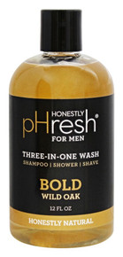 Body Wash Three-In-One Bold Wild Oak 12 OZ By Honestly Phresh