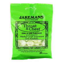 Throat Lozenges Chili Lime Menthol Bag 30 CT By Jakemans