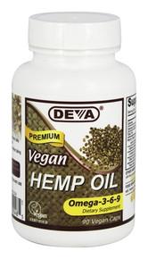 Vegan Hemp Oil 90 CAPVEGI From DEVA