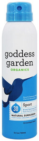 Adult Sport Continuous Spray Natural Sunscreen SPF30 3.4 OZ By Goddess Garden