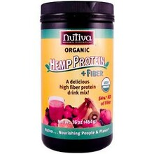 Hemp Protein Powder Hi Fiber, 16 OZ, Nutiva