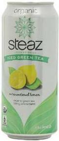 Green Lemon, Unsweetened, 12 of 16 OZ, Steaz