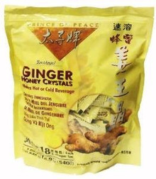Ginger Honey Crystals,Instant, 30 CT, Prince Of Peace