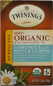 Camomile w/ Mint & Lemon, 6 of 20 BAG, Twinings