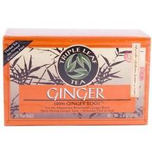 Ginger (100% Ginger Root), 6 of 20 BAG, Triple Leaf Tea