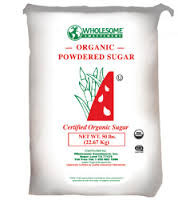 Sugar, Powdered, 50 LB, Wholesome Sweeteners