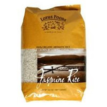 Jasmine Rice, White, 25 LB, Lotus Foods