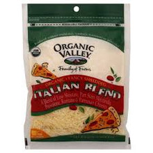 Italian Blend, 4 Cheeses Shrd, 12 of 6 OZ, Organic Valley