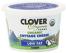 Cottage Cheese, Low Fat, 6 of 16 OZ, Clover Organic Farms