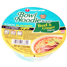 Nong Shim Beef and Ginger Bowl 3 oz  From Nong Shim