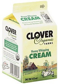 Heavy Whipping Cream, 12 of 16 OZ, Clover Organic Farms