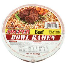 Souper Bowl Beef Noodle Soup 3 oz  From Souper