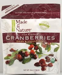 Cranberries, 12 of 5 OZ, Made In Nature