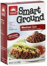 Smart Ground, for Tacos & Burritos, 12 of 12 OZ, Lightlife Foods