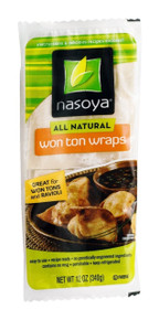 Wonton Skins, Single Stack, 6 of 12 OZ, Nasoya