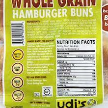 Buns, Whl Grain Hamburger 4 Pack, 8 of 10.8 OZ, Udi'S Gluten Free