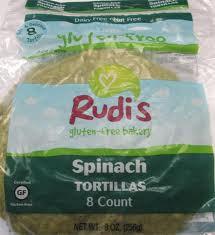 Spinach, 8 pk, 9 Inch, 12 of 9 OZ, Rudi'S Gluten Free Bakery