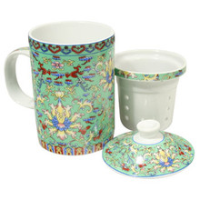 Mint Green Design Filter Tea Cup  From AFG
