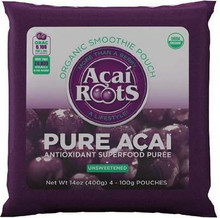 Pure Acai Pulp, 4-Pack, 16 of 14 OZ, Acai Roots