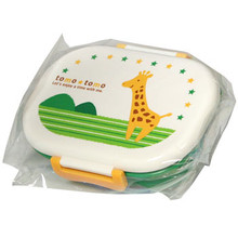 Children's Green Giraffe Bento Box  From Kotobuki