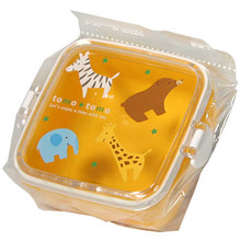 Children's Orange Zoo Animal Bento Box  From Kotobuki