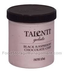 Black Raspberry Chocolate Chip, 8 of 16 OZ, Talenti Gelato E Sorbetto