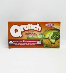 Veggie Burger, Green Chili, 6 of 12.8 OZ, Qrunch Foods
