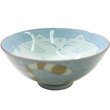 Blue Cat Rice Bowl 5 1/2'  From Kotobuki