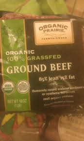 85% lean, Ground, Grass-Fed, 8 of 1 LB, Organic Prairie