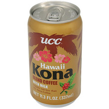 UCC Canned Kona Coffee w/ Milk 11.3 oz  From UCC