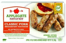 Classic Pork Breakfast, 12 of 7 OZ, Applegate Farms