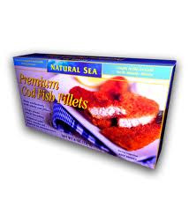 Cod, Fillets, Multigrain, MSC, 12 of 8 OZ, Natural Sea