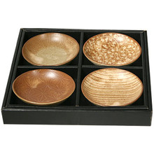 Brown Sauce Plates 4 pcs  From Lee Kum Kee
