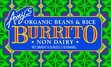 Burrito, Bean & Rice Diary Free, 12 of 6 OZ, Amy'S