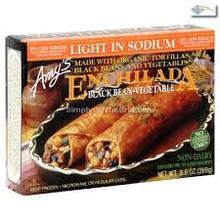 Enchiladas, Blk Bean Vegetable LS, 12 of 9.5 OZ, Amy'S