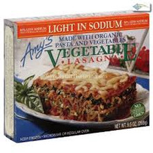 Lasagna, Vegetable, Low Sodium, 12 of 9.5 OZ, Amy'S