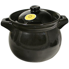 Black Clay Cooking Pot 4 Liter  From AFG