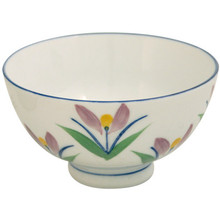 Ceramic Rice Bowl - Colored Flowers  From Misty Rose