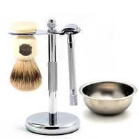 MY Essentials 4 Piece Shaving Set featuring the Merkur 23C