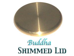 Buddha Box - Shimmed Lid, Half Dollar Size, Brass