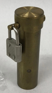 Brass Bill Tube, Lock & Key