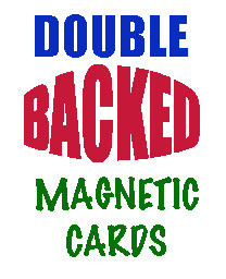 Magnetic  Card, Double Back Red (2)