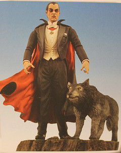 Dracula Action Figure with Wolf & Base