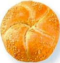 Kaiser Rolls with Sesame Seeds -6ct