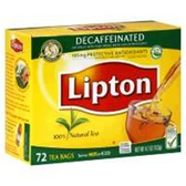 Lipton Tea Decaf Tea Bags -72 ct