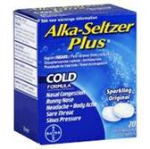 Alka Seltzer Plus Cold Medicine - 20 Count