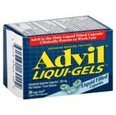 Advil Ibuprofen Liqui-Gel Capsules - 20 Count