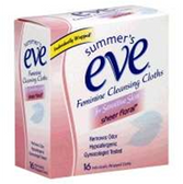 Summers Eve Sheer Floral Feminine Cleansing Cloths - 16 Count
